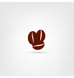 Coffee beans symbol vector image