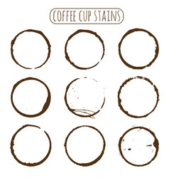 coffee stain isolated on white background vector image