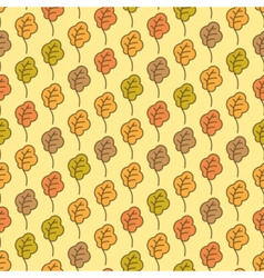 Funny autumn oak leaves seamless pattern vector image