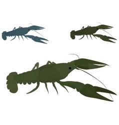 green crayfish vector image