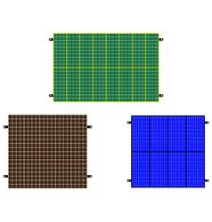 solar panels vector image