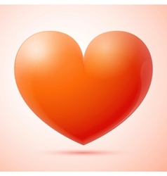 3d heart isolated vector image vector image