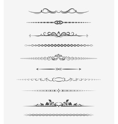 Calligraphic page dividers vector image vector image