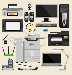 computer office equipment vector image