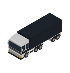 freight truck isometric icon vector image