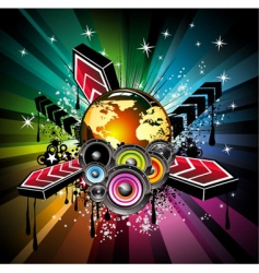 global musical event background vector image