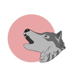 Howling wolf vector image