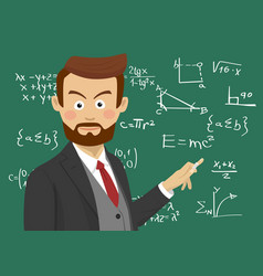 male teacher at school in the classroom vector image