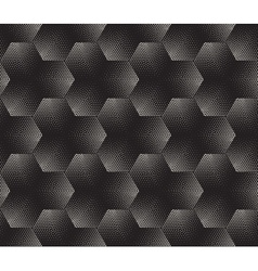 Seamless Black and White Stippling Halftone vector image