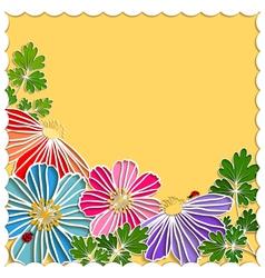 Springtime Colorful Paper Cut Flower vector image