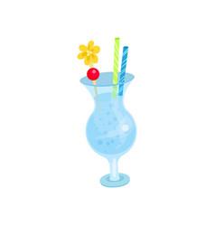 summer tropical cocktail cartoon vector image