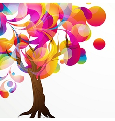 abstract tree background vector image