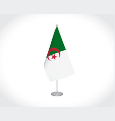 Algeria flag on white background vector