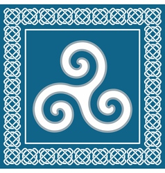 Ancient symbol triskeliontraditional celtic desig vector image