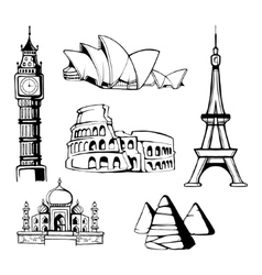 architecture monuments vector image