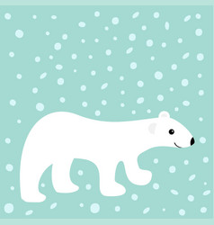 arctic polar white bear cub cute cartoon baby vector image
