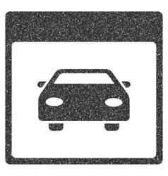 Automobile Car Calendar Page Grainy Texture Icon vector image