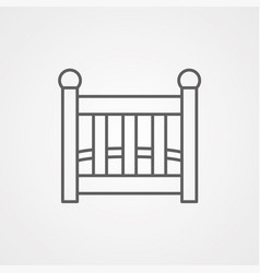 baby cribs icon sign symbol vector image