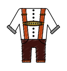 Bavarian costume design vector