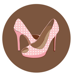 Beautiful pair fashion shoes vector