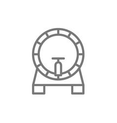 beer keg barrel line icon vector image