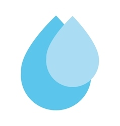 Blue water drops icon vector