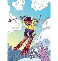 Brave Ski Freerider vector image