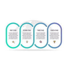 business infographics process with 4 steps vector image