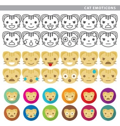 Cat emoticons vector
