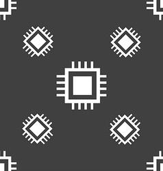 Central Processing Unit Icon Technology scheme vector image