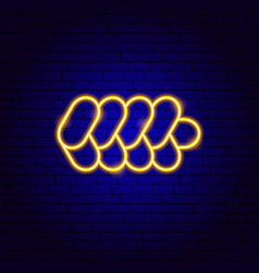 challah neon sign vector image