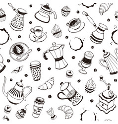 Coffee time pattern vector