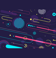 creative abstract dynamic geometric elements vector image