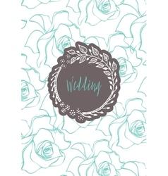 Creative template card vector image