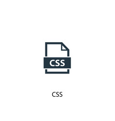 Css icon simple element css concept vector