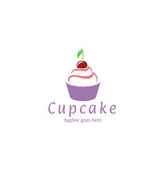cupcake logo vector image