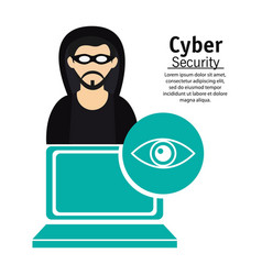cyber secuirty computer technology hacker vector image