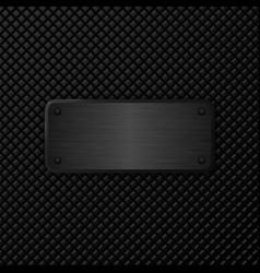 Dark metal texture background vector