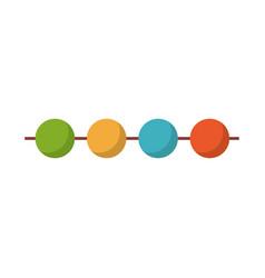 decorative pennants icon vector image