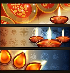 Diwali headers vector