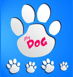 Dog paw prints vector