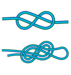 Eight knot and double 8 knot instruction against vector