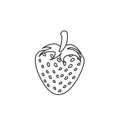 figure strawberry fruit icon stock vector image