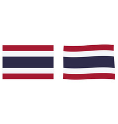 flag thailand simple and slightly waving vector image
