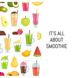 flat smoothie elements background with vector image