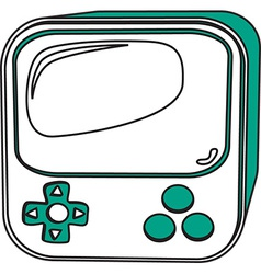 Gaming console design vector