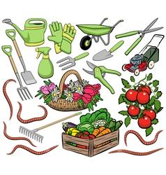 Gardening clip art vector image