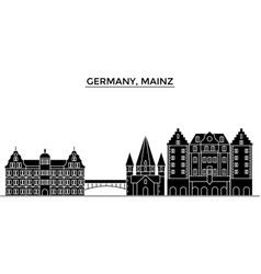 Germany mainz architecture city skyline vector