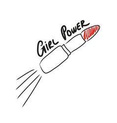 Girl power feminist slogan vector