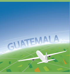 Guatemala flight destination vector
